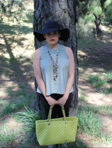 Big purse, just in case in the forest