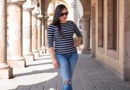 From POST: NAVY BLUE WITH WHITE STRIPES AND CAREY GLASSES