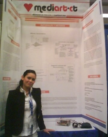 Me and a medical device that I designed and created