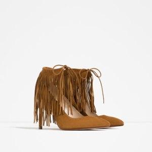 Zapatos con flecos