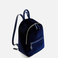 Zara Velvet Backpack