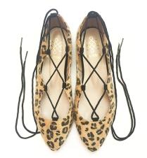 Frida Peralta Lace-up flats leopardo miel
