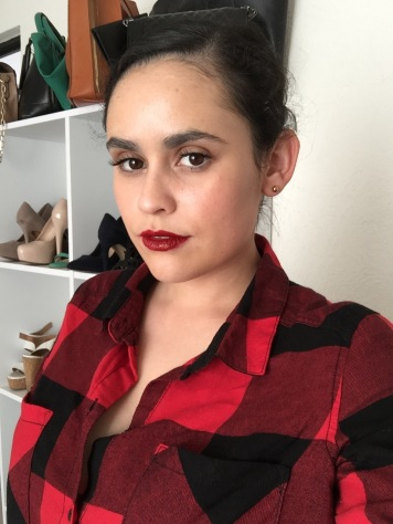 Blood red lips