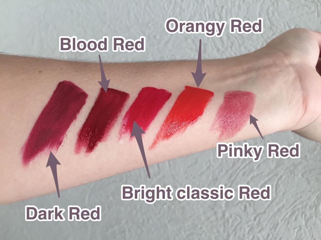 Red lipstick options
