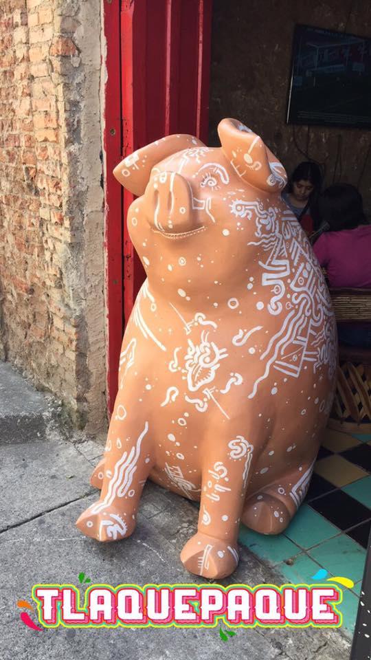 A big pig sculpture from Tlaquepaque