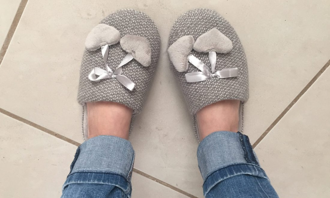 Gray Slippers!