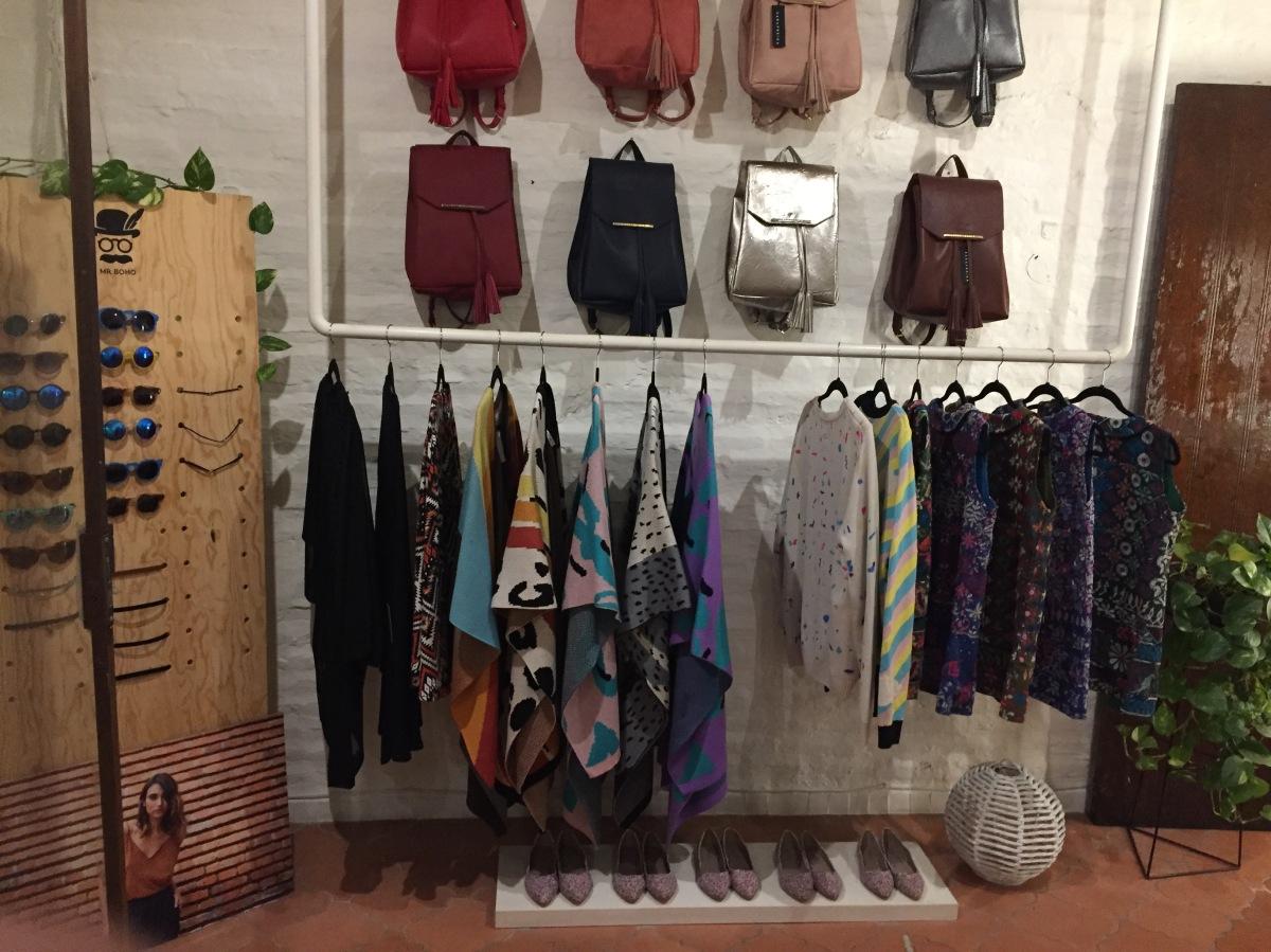 Samare Boho Boutique backpack wall