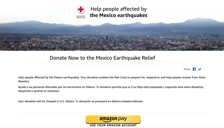 You can donate to American Red Cross