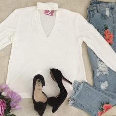 Malibú by Marlene outfit blusa blanca