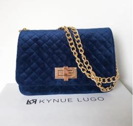 Kynue Lugo crossbody terciopelo