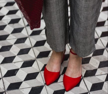 From POST: Glen Plaid & Red Shoes