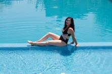 Sit on the pool