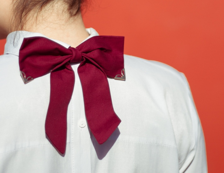 A different way to wear a classic bow tie