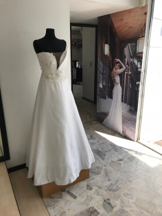 Paola Najera Bride gown and picture